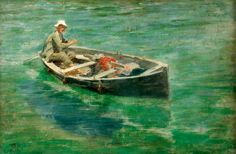 Henry Scott Tuke, Green Waters, Oil on canvas, Collection: Royal Institution of Cornwall
