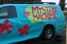 Trunk or Treat was so much fun & wildly successful. Honey & I had a great time as Shaggy & Daphne from Scooby Doo. {PS - If I've e. Tips for a great Trunk or Treat Halloween Car Decorations, Halloween Themes, Fall Halloween, Halloween Crafts, Halloween Party, Halloween Stuff, Happy Halloween, Trunk Or Treat, Daphne From Scooby Doo