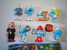 THE-SMURFS-MOVIE-3D-PEYO-2011-KINDER-SURPRISE-FIGURES-SET-FIGURINES-COLLECTIBLES