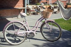Pink BIke with crochet seat cover