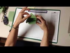 ▶ Envelope punch board tea bag caddy - YouTube
