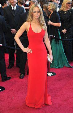 Jennifer Lawrence in Calvin Klein. LOVE this dress.