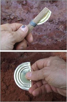 If you're in a situation and you happen to have a tin can with you, then you're in luck! That tin can might just be your ticket to survival. Survival Life Hacks, Survival Supplies, Survival Food, Outdoor Survival, Survival Knife, Survival Prepping, Survival Skills, Survival Quotes, Survival Weapons