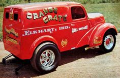 for more vintage cars hot rods and kustoms Hot Rod Trucks, Cool Trucks, Pickup Trucks, Vintage Racing, Vintage Cars, Vintage Room, Ford Anglia, Classic Hot Rod, Panel Truck