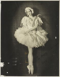 Olga Spessiva in Swan Lake costume, 1934 / photographer Sydney Fox Studio, 3rd Floor, 88 King St, Sydney by State Library of New South Wales collection, via Flickr