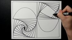 Illusion Drawings, Spiral Pattern, Straight Lines, Paradox, Zentangles, Art Therapy, Sharpie, Illusions, 2d