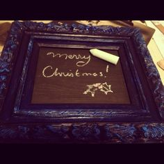 How to Turn an Old Picture Frame Into a Chalkboard