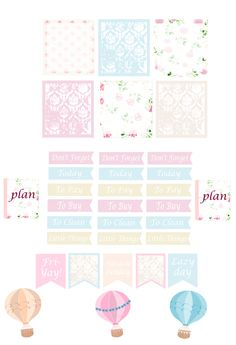 Free pink flower planner stickers                           This freebie Friday I'm throwing some free weekly planner stickers at you! I kn...