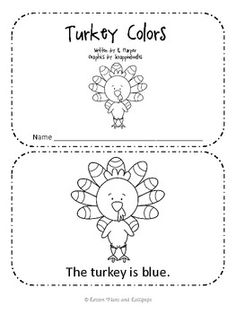 Turkey Colors Emergent Reader Book