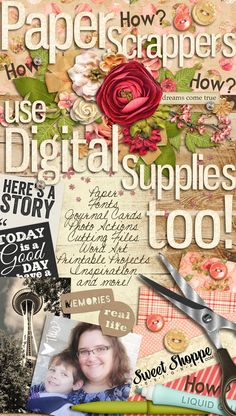 How Paper/traditional Scrapbookers can use Digital Supplies on their layouts and projects