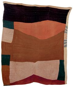 "twelve-sixteen: "" free-form blocked quilt from tenessee c 1930 available at odd-fellow's antiques """