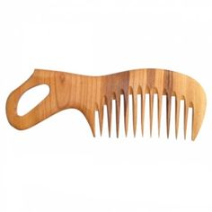 Wooden comb with handle. Handmade wooden by WoodCraftStudio