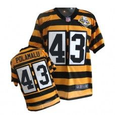 NFL Jersey's Men's Pittsburgh Steelers Troy Polamalu Nike White Limited Jersey
