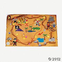 12 Design Your Own Giant Treasure Map Sticker Scenes - Oriental Trading