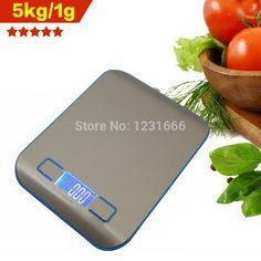 2015 reële nieuwe 5kg/1g digitale keukenweegschaal koken huishouden maatregel gereedschap roestvrij staal elektronische gewichtsverdeling in   Hebben we 4 soorten van kleur, als de koper niet laat een boodschap aan ons, zullen wij willekeurig  van keukenweegschaal op AliExpress.com | Alibaba Groep