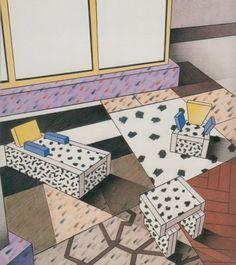 Ettore Sottsass, Marco Zanini and Martine Bedin for Parc de la Vilette1985.