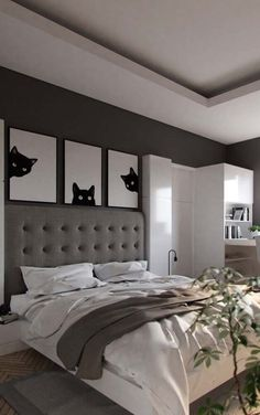 Home Decoration For Small House Refferal: 5917530973 White Gray Bedroom, Room Paint Colors, New Room, Interior Design Living Room, Bedroom Decor, Furniture, Decoration, Home Decor, Woman Dresses