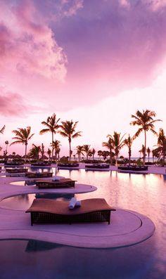 Sunrise by the pool ~ Secrets Resorts