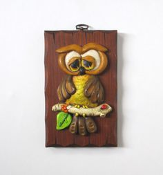 Vintage Owl Wall Plaque ..Want