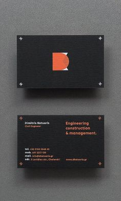 """Branding for DK by Angelos Botsis """"Identity was mainly inspired from the geometric elements that can be found on the engineers blueprints. The chosen color palette uses a distinctive orange tint as the dominant color. A color that is inextricably..."""
