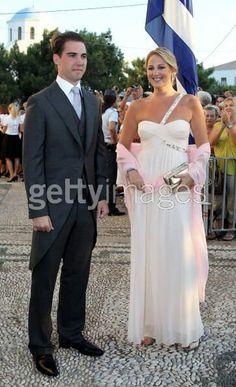 Prince Phillippos and Princess Theodora at the wedding of their older brother Prince Nicholaos and Tatiana Blatnik