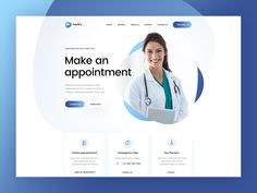 BeHealthy 👩‍🔬💉 by Mateusz Madura for Vision Trust on Dribbble Dentist Website, Hospital Website, Healthcare Website, Page Layout Design, Website Design Layout, Landing Page Design, Web Layout, Best Website Design, Website Design Inspiration