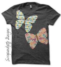 Butterfly Iron on Transfer  Spring Iron on by ScrapendipityDesigns, $2.50