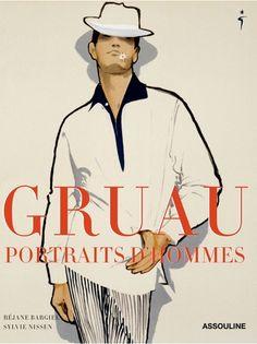 """Book cover """"Gruau, Portraits d'hommes"""", Assouline."""