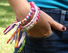 Craft Ideas Using Old T-Shirts | Crafts for Kids Blog » Tutorial : Recycled T-Shirt Bracelets