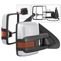 2014-17 Chevy Silverado / GMC Sierra [1500 Model] Power Heated LED Signal Towing Mirror - Chrome