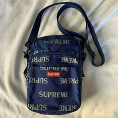 ad64722f5cb Authentic Supreme Shoulder Bag FW 2017 3M Reflective Repeat blue #fashion  #clothing #shoes