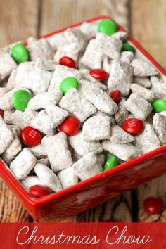 Super easy and delicious Christmas Chow recipe . I added Pretzels and peanuts for a salty accent. Christmas Snacks, Christmas Cooking, Christmas Goodies, Christmas Candy, Christmas Eve, Christmas Chex Mix, Christmas Crunch, Christmas Entertaining, Bon Appetit