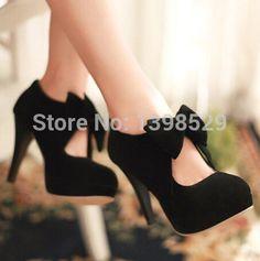 big size EUR32-EUR43 /vintage style,woman small bowtie platform pumps,lady's sexy high heeled shoes,sandals for women