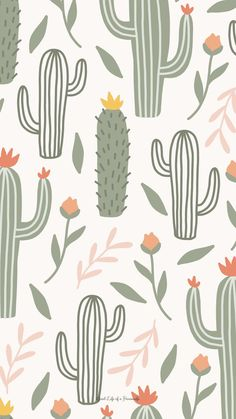 Cactus iPhone background - Good Life of a Housewife