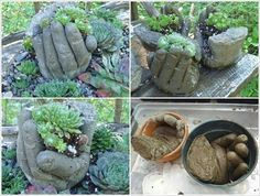 Smart and Creative Concrete Hand Planters In a Detailed DIY Guide homesthetics (22)