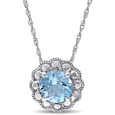 Womens 17 Inch Blue Topaz 10K Gold Link Necklace ($400) ❤ liked on Polyvore featuring jewelry, necklaces, gold jewelry, gold jewellery, gold necklace, yellow gold necklace and blue topaz jewelry