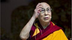 Tibetan spiritual leader the Dalai Lama speaks to devotees before he teaches on the fourth day of Kalachakra near Leh, India, Sunday, July 6, 2014