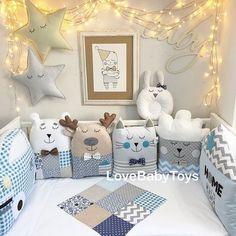 Чудесный мальчиковый набор Сшит на заказ Цена бортиков на кроватку 120х60 на 3 стороны 5400р.
