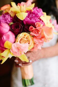 #Bouquet | See the wedding on SMP -- http://www.StyleMePretty.com/massachusetts-weddings/2014/01/08/belle-mer-wedding/  Anna Wu Photography