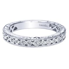 Reba Antique Style Ladies Diamond Wedding Ring from Steven Singer Jewelers