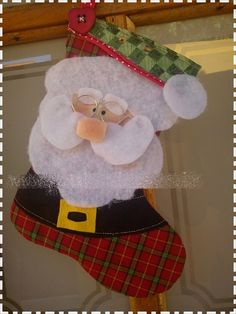 Christmas Stocking Pattern, Christmas Ornament Crafts, Christmas Gifts, Christmas Cartoons, Xmas Stockings, Employee Gifts, Retirement Gifts, Gifts For Pet Lovers, Felt Dolls