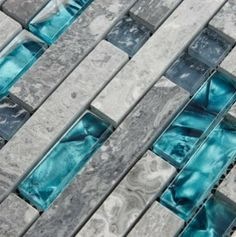 Stone blend Glass Mosaic Tiles SGMT026 - modern - kitchen tile - other metro - My Building Shop
