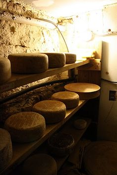 Inside the cheese cave at Formaggio's