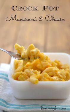 Homemade Macaroni and CHeese in the crock pot via flouronmyface.com