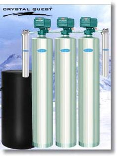 Whole House Water Filter, Water Softener, & Fluoride Filtration System - Stainless Steel
