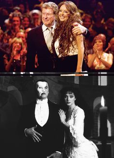 Original Phantom of the Opera Leads, Michael Crawford and Sarah Brightman.