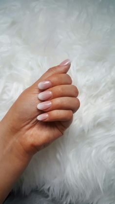 French ombre acrylic powder round nails