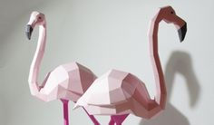 I love these beautiful 3D models of polygonal animals, which are made entirely out of coloured paper.
