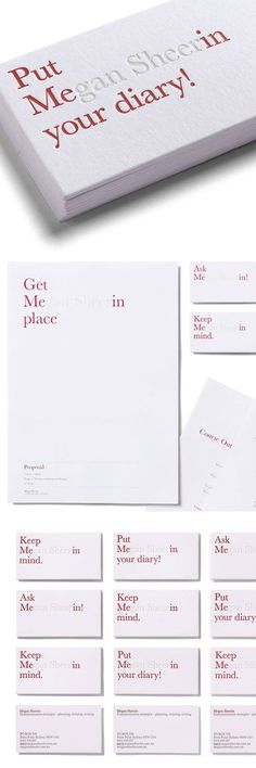Creative business cards and stationary.