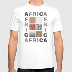 Africa - background with text and texture wild animal T-shirt by vladimirceresnak Africa, Mens Tops, T Shirt, Animals, Animales, Tee, Animaux, Tee Shirt, Animal